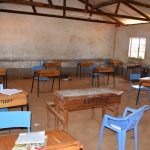 The Water Project: Kikuswi Secondary School -  Desks In Classroom