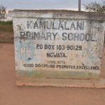The Water Project: Kamulalani Primary School -  School Sign