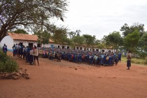 The Water Project:  Students Gathered For Morning Meeting