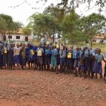 The Water Project: Kamulalani Primary School -  Students With Their Water Containers
