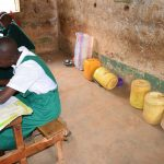 The Water Project: Matiliku Primary School -  Water Storage Containers In The Back Of Classroom
