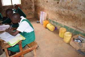 The Water Project:  Water Storage Containers In The Back Of Classroom