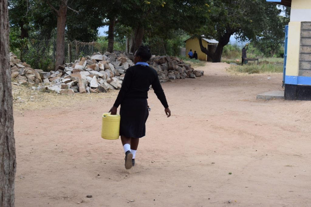 The Water Project : kenya19245-carrying-water