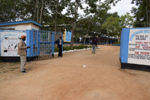 The Water Project:  School Entrance And Gate
