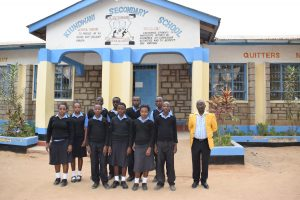 The Water Project:  Students And Teacher In Front Of School
