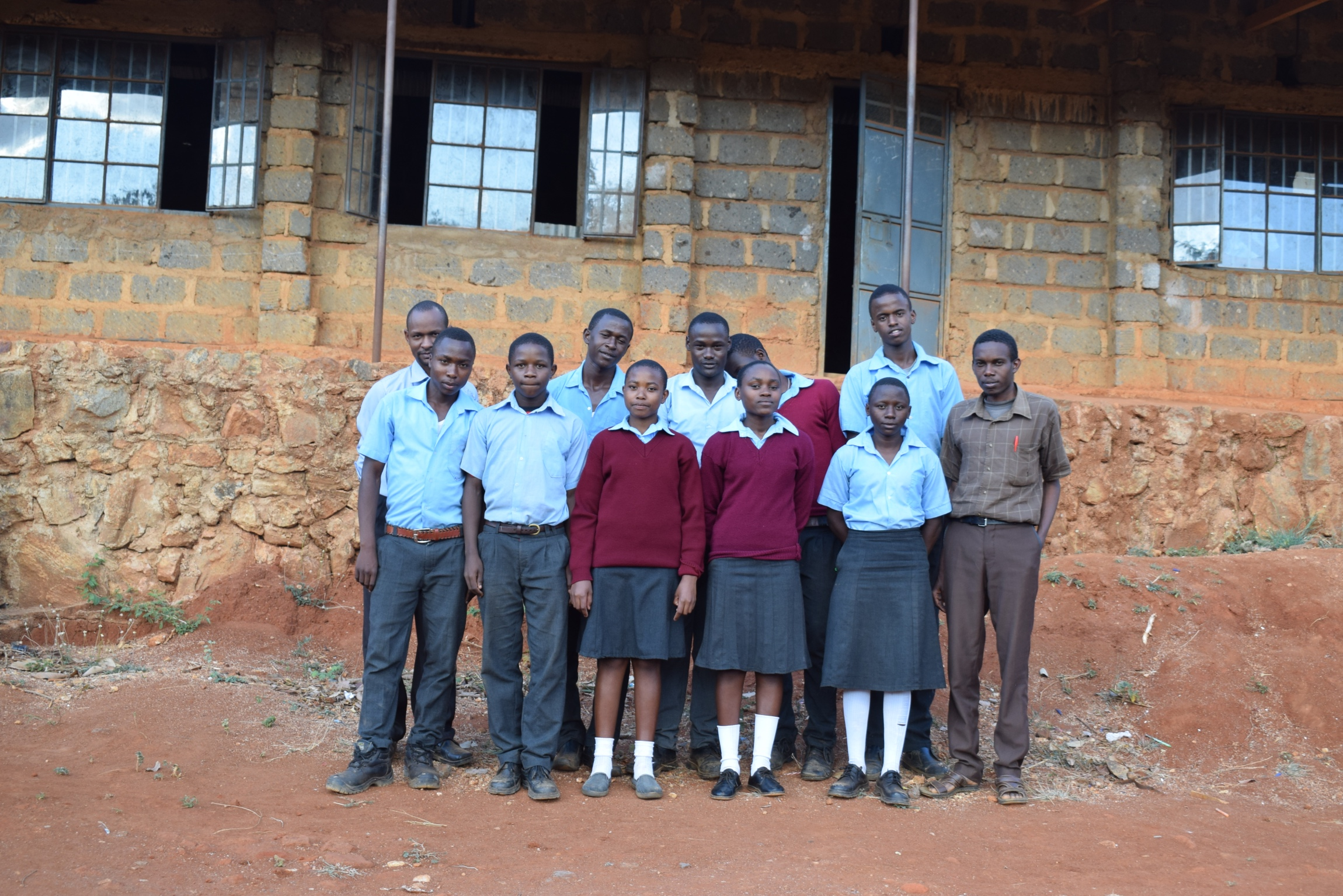 The Water Project : kenya19250-students-and-staff