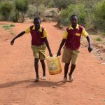 The Water Project: Nguluma Primary School -  Hauling Water