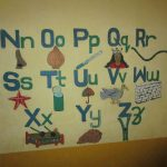 The Water Project: Mummy Ann's Pre-Primary School -  Painted Alphabet In Classroom