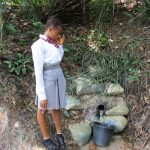 The Water Project: Rowana Junior Secondary School -  Fetching Water