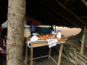 The Water Project:  Food Set Out For Cooking