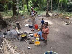 The Water Project:  Family Cooking Outside