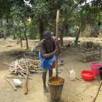 The Water Project: Transmitter, #14 Port Loko Road -  Mashing Palm Fruit