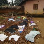 The Water Project: UBA Senior Secondary School -  Clothes Drying On The Ground