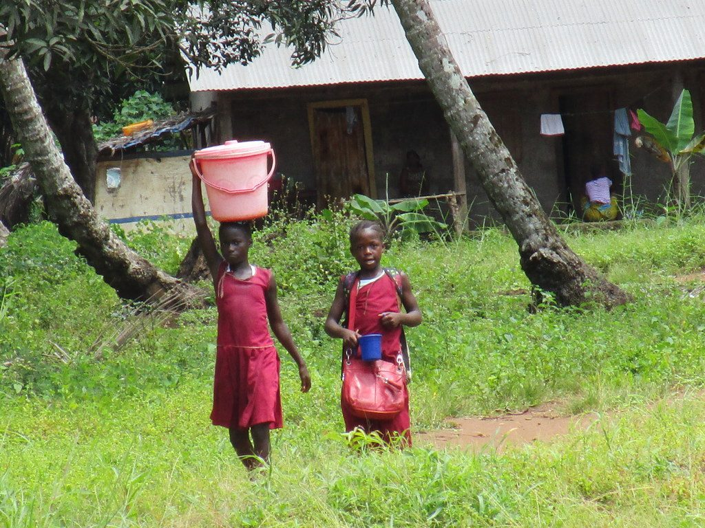 The Water Project : sierraleone19266girls-carrying-water