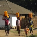 The Water Project: Lungi, Tonkoya Village -  Children Carrying Water