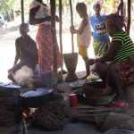 The Water Project: Lungi, Tonkoya Village -  Family Cooks Together