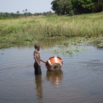 The Water Project: Lungi, Tonkoya Village -  Fetching Water From Swamp