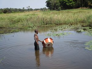 The Water Project:  Fetching Water From Swamp