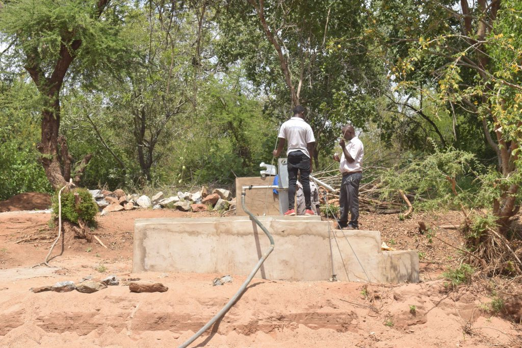 The Water Project : kenya18209-pump-installation