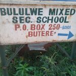 The Water Project: Bululwe Secondary School -  School Sign