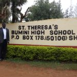 The Water Project: St. Theresa's Bumini High School -  Headteacher At School Gate