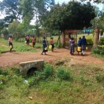 The Water Project: Mukoyani Primary School -  Arriving At School With Water