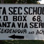 The Water Project: Banja Secondary School -  School Sign