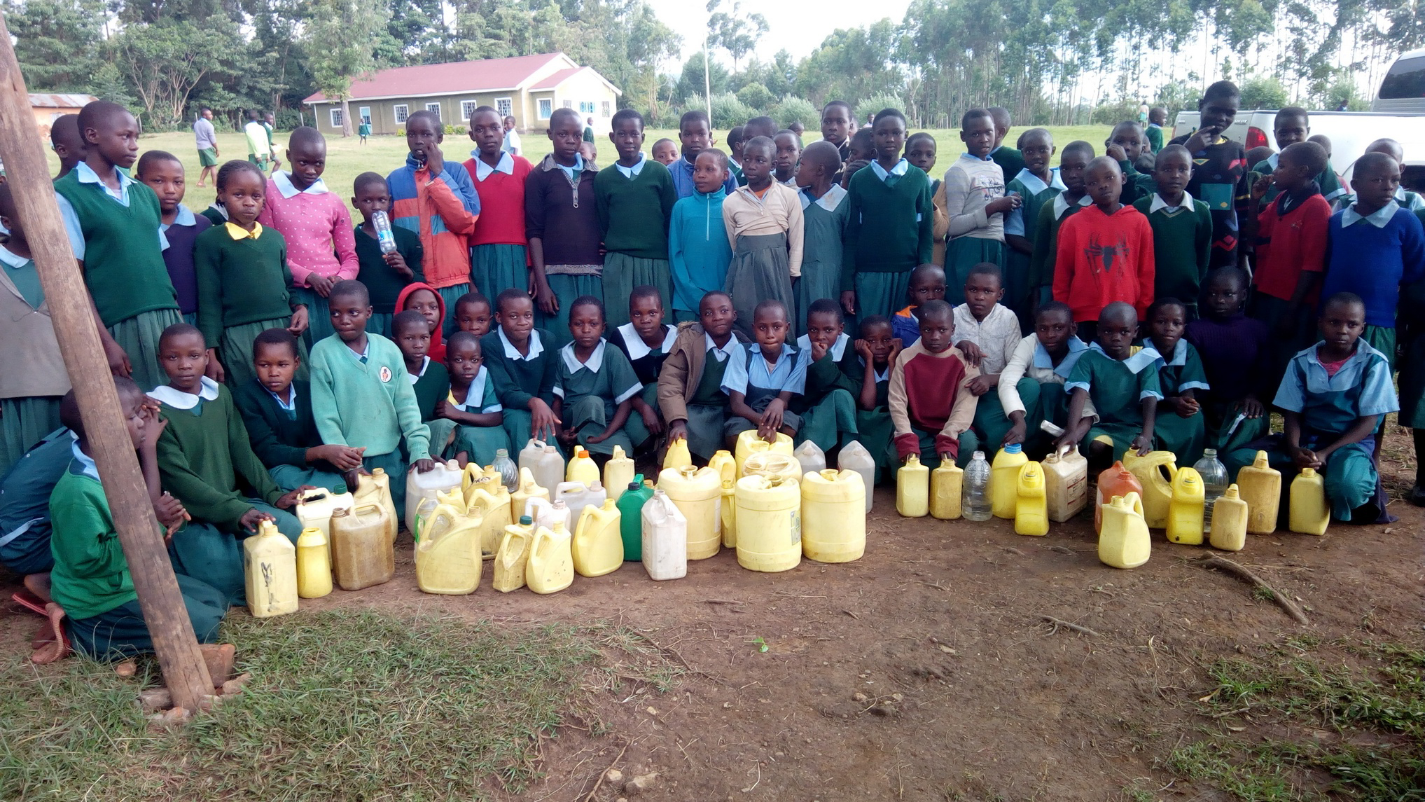 The Water Project : 10-kenya19053-students-with-their-jerrycans