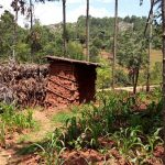The Water Project: Kitulu Community, Kiduve Spring -  Latrine