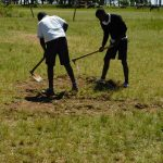 The Water Project: Shikusa Primary School -  Excavating Land For The Tank
