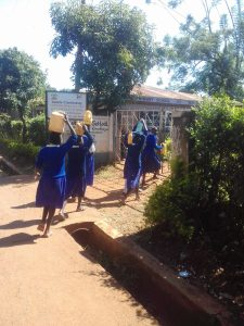 The Water Project:  Arriving At School With Water