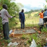 The Water Project: Mukoko Community, Mukoko Spring -  Sanitation Platform Construction