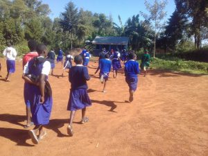 The Water Project:  Running To Use The Latrines