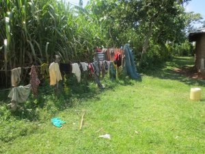 The Water Project:  Clothes Drying On A Fence