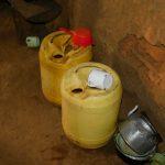 The Water Project: Kapsambo Community, Muhingi Spring -  Drinking Water Storage
