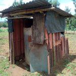 The Water Project: Ikonyero Community, Amkongo Spring -  Latrine