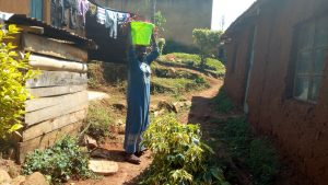 The Water Project:  Latifa Balancing A Water Bucket On Her Head