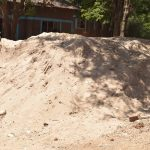 The Water Project: Kitandi Primary School -  Sand The Parents Gathered