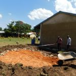 The Water Project: Shikusa Primary School -  Tank Construction