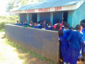 The Water Project:  Crowded Latrines