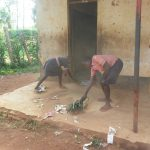 The Water Project: Mukoyani Primary School -  Sweeping Outside The Classrooms