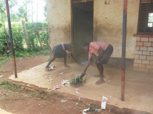The Water Project:  Sweeping Outside The Classrooms
