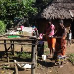 The Water Project: Bungaya Community, Charles Khainga Spring -  Women Washing Dishes