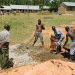 The Water Project: Shikusa Primary School -  Mixing Cement