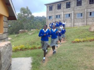 The Water Project:  Rush To Latrines During Break