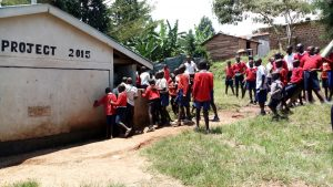 The Water Project:  Crowds At Latrine