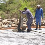 The Water Project: Kitandi Primary School -  Tank Foundation Construction