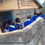 The Water Project: Dr. Gimose Secondary School -  Crowds At Latrines