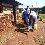 The Water Project: Ikumba Secondary School -  Dropping Water Off At Kitchen