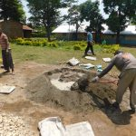 The Water Project: Mabanga Primary School -  Mixing Cement